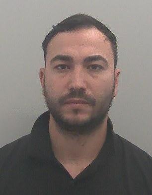 Alexandru-Dorel Fuiorea, 29 de ani, condamnat la trei ani de închisoare în Marea Britanie pentru trafic de migranți. Foto: Daily Mail
